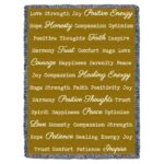 Word Hugs Inspirational Tapestry Throw Blanket Gold
