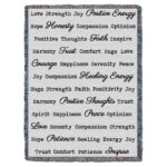 Word Hugs Inspirational Tapestry Throw Blanket Light Grey