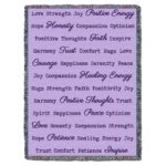 Word Hugs Inspirational Tapestry Throw Blanket Lilac