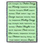 Word Hugs Inspirational Tapestry Throw Blanket Mint