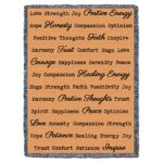 Word Hugs Inspirational Tapestry Throw Blanket Peach