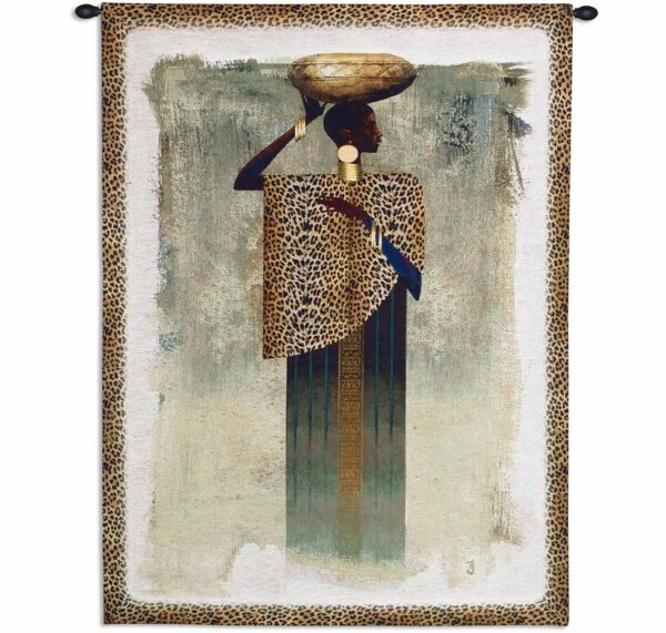 Worldly Woman African | 41 x 31 | Tapestry Wall Decor