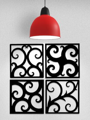 Wrought Iron Wall Art Tiles | 8 Designs