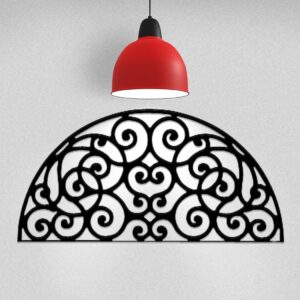 Scrolled Arch | Half-Moon Wrought Iron Wall Decor