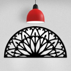 Sculpted Arch | Half-Moon Wrought Iron Wall Decor