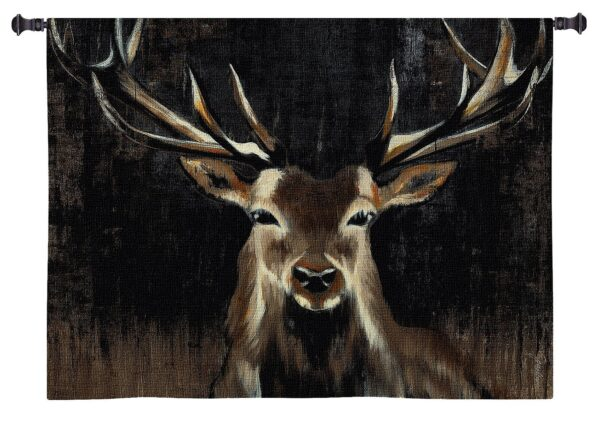 Young Buck | Country & Rustic Wall Tapestry | 45 x 45