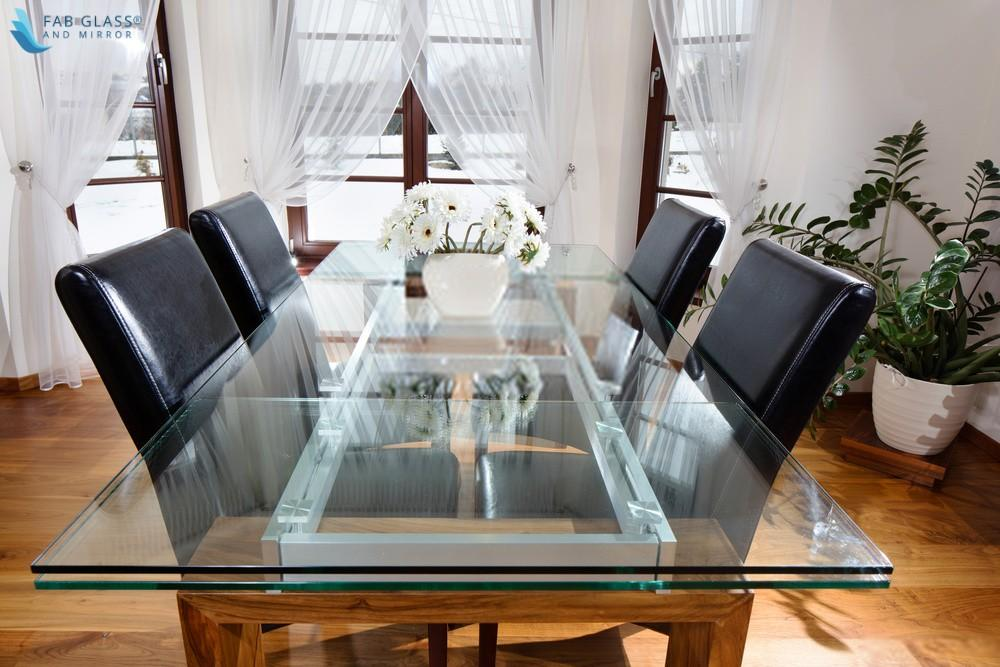 Glass Table Top Dining Room Table
