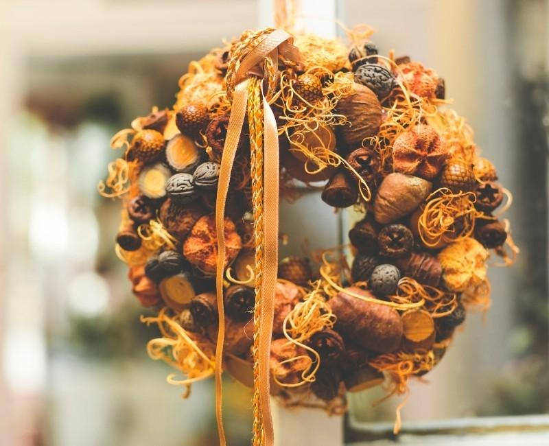 Fall Seeds and Nuts Wreath