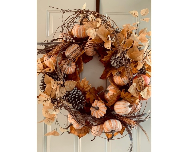 French Country Mini Pumpkin Wreath