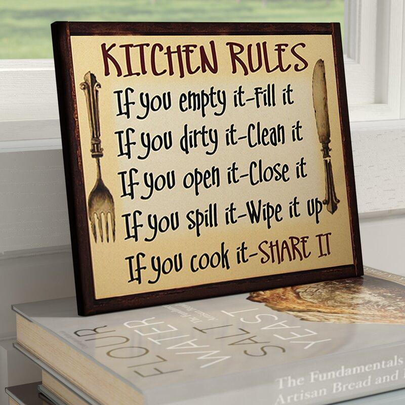 Kitchen Rules Knife and Form Wall Art