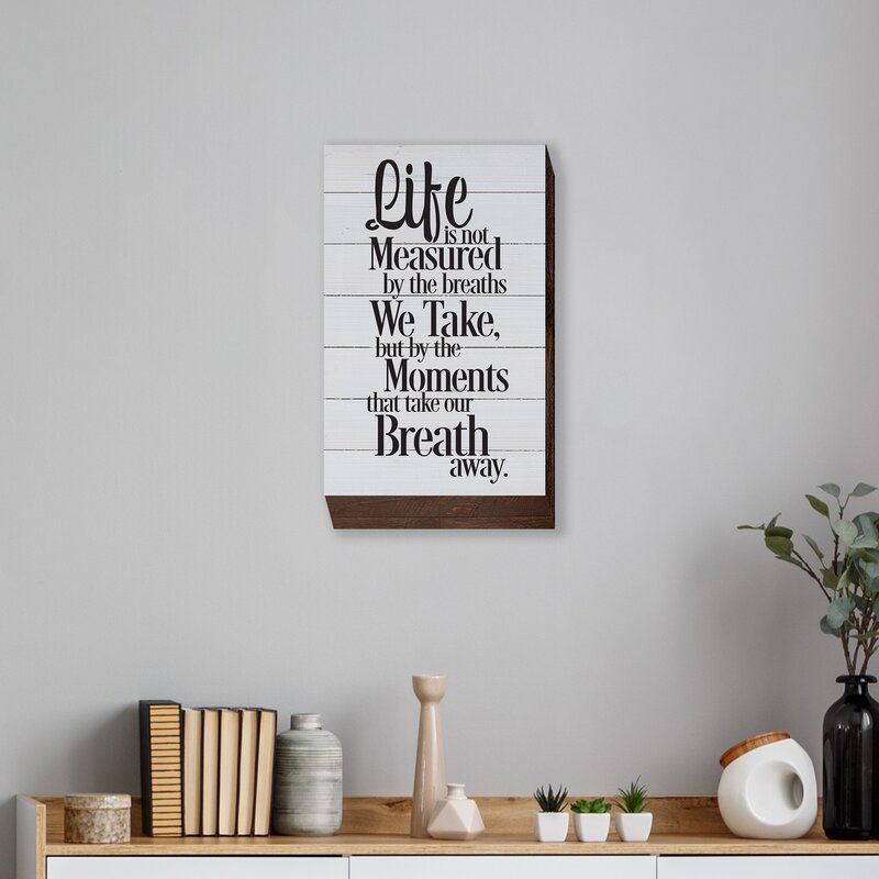 Life is Not Measured Textual Art Plaque