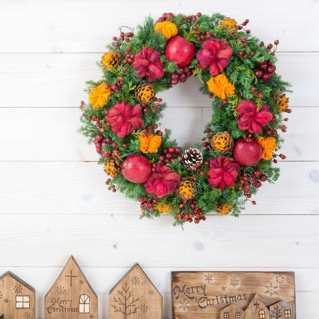 Colorful Country Christmas Wreath