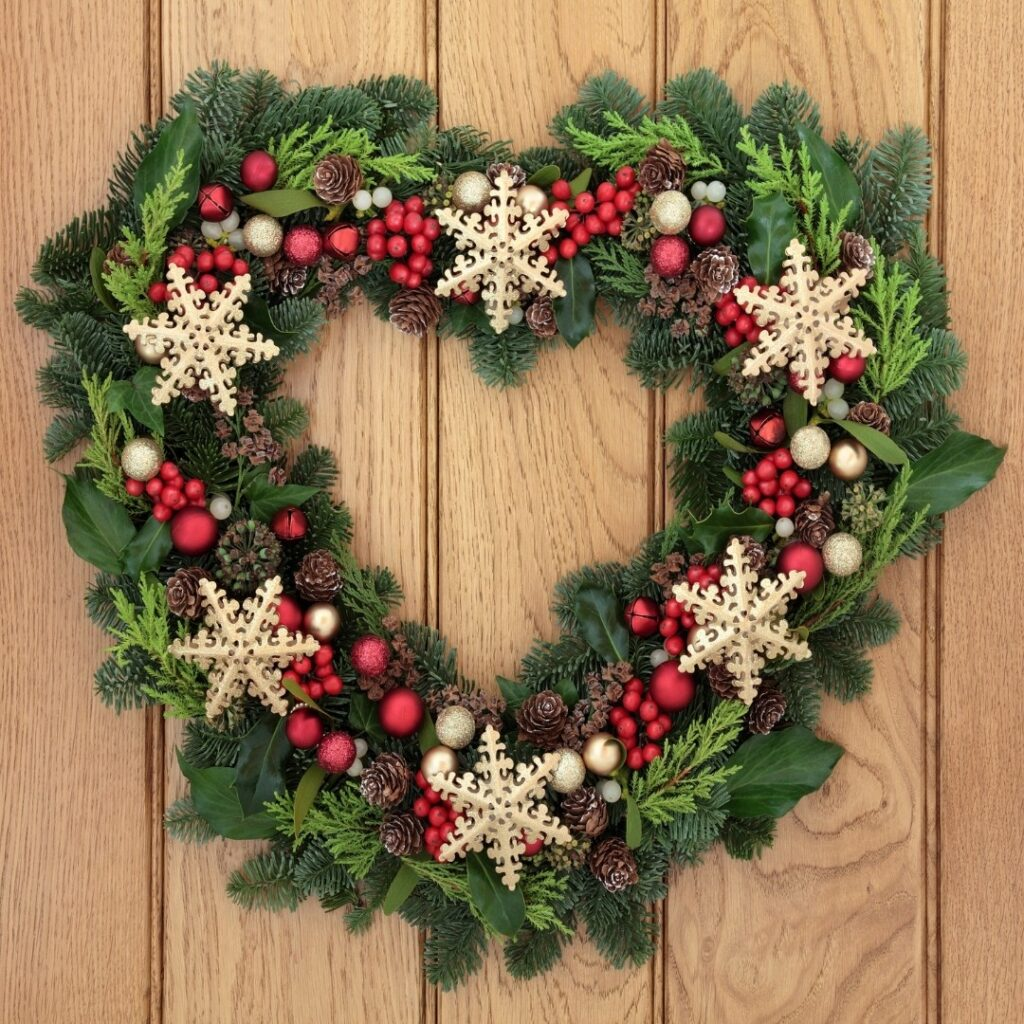 Heart Shaped Christmas Wreath