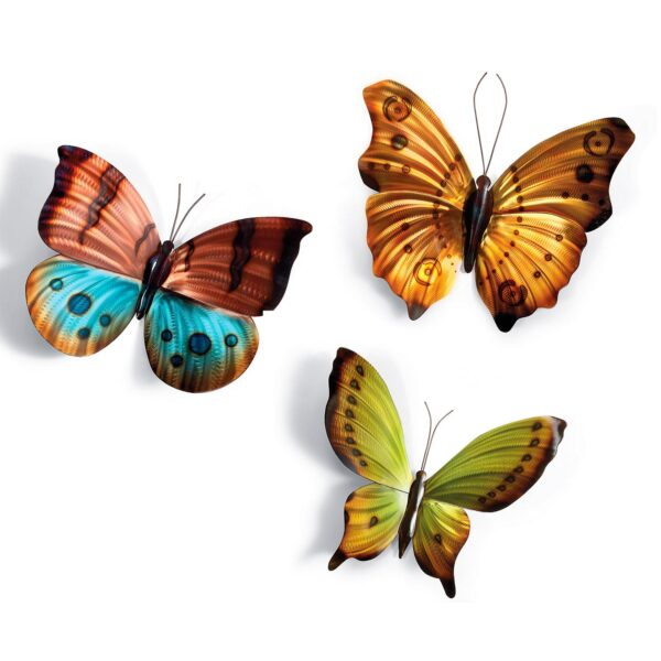 Metal Wall Art Brilliant Butterflies