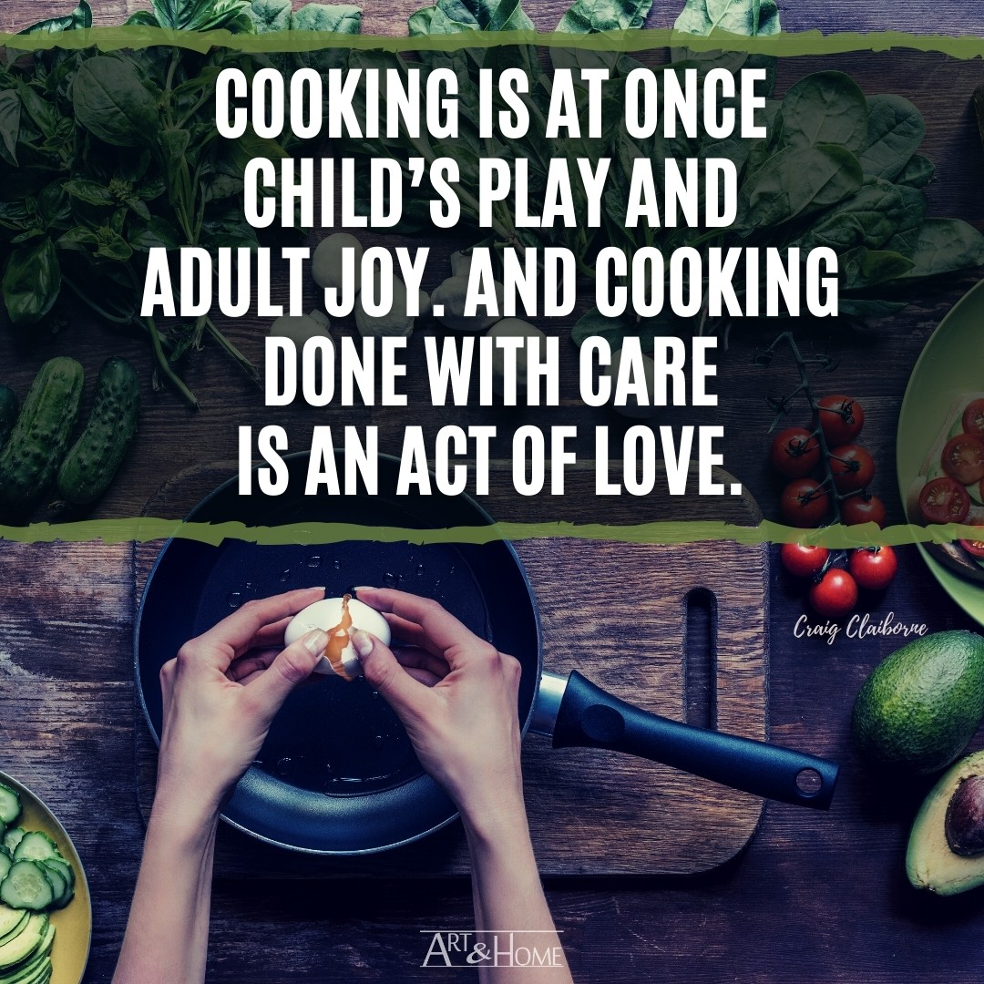 Cooking as an Act of Love Quote from Craig Claiborne