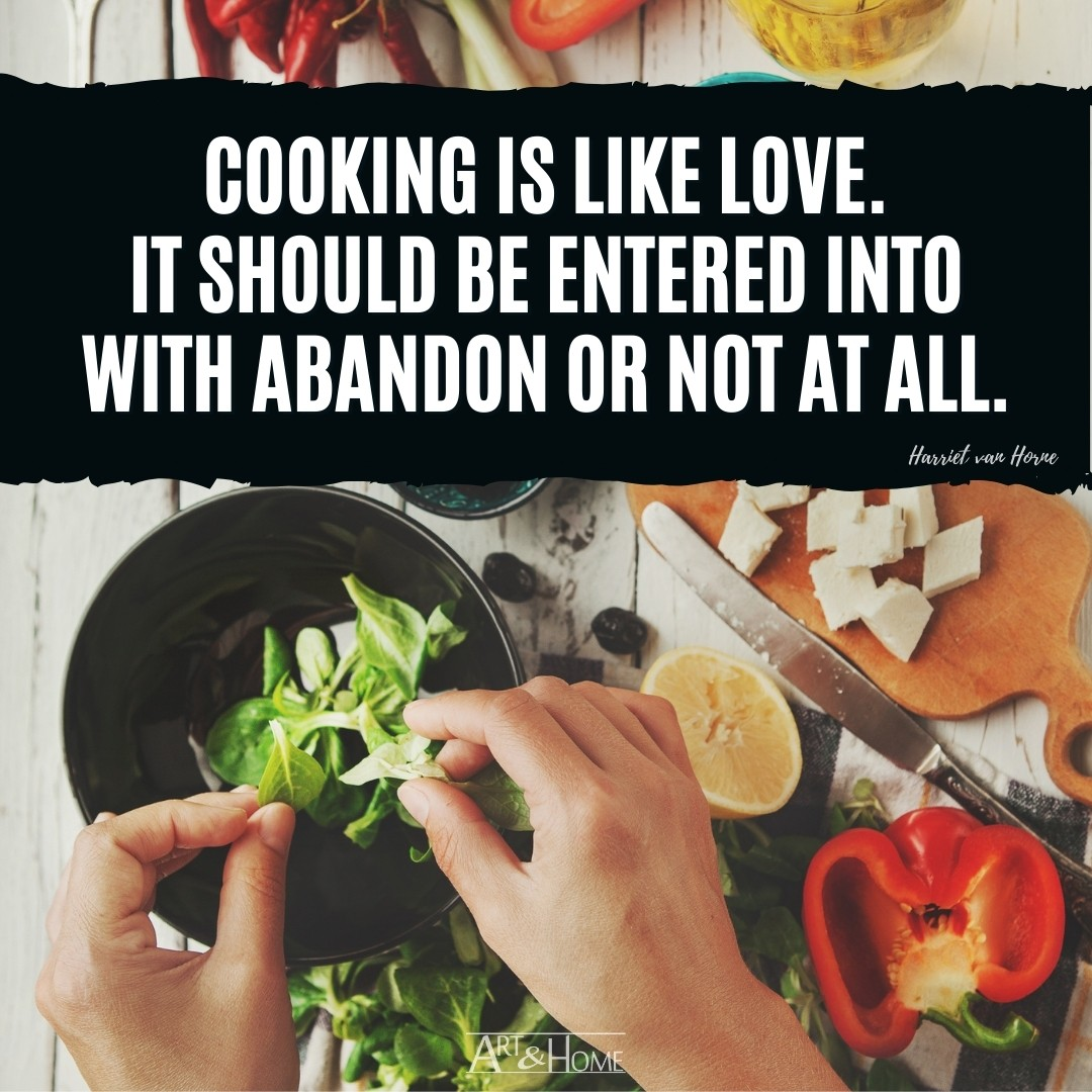 Cooking is Like Love Quote | Inspirational Food Quotes