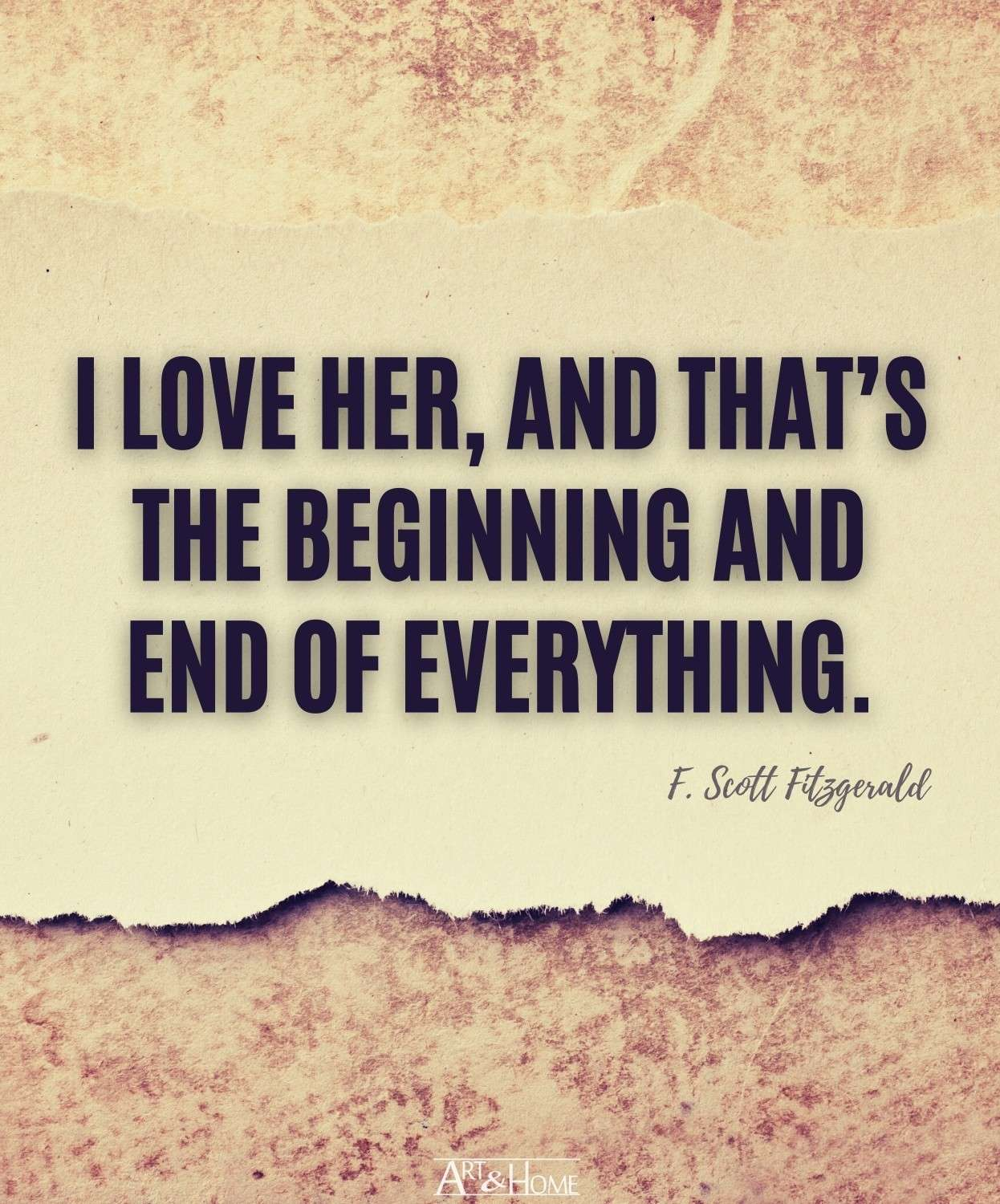 F. Scott Fitzgerald Love Quote for Her
