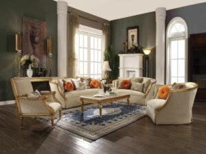Gold Living Room Furniture