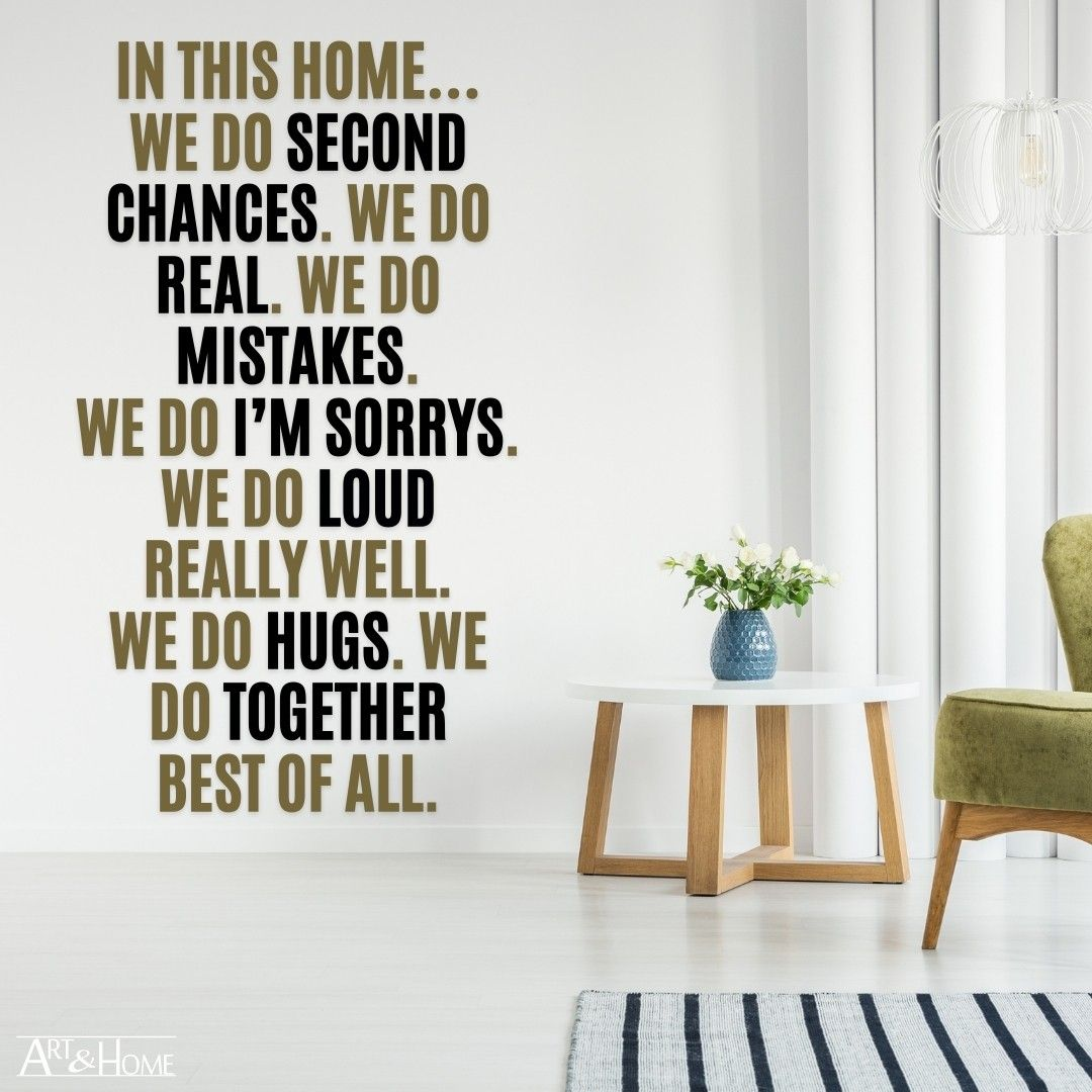 In this home… wall art quote.