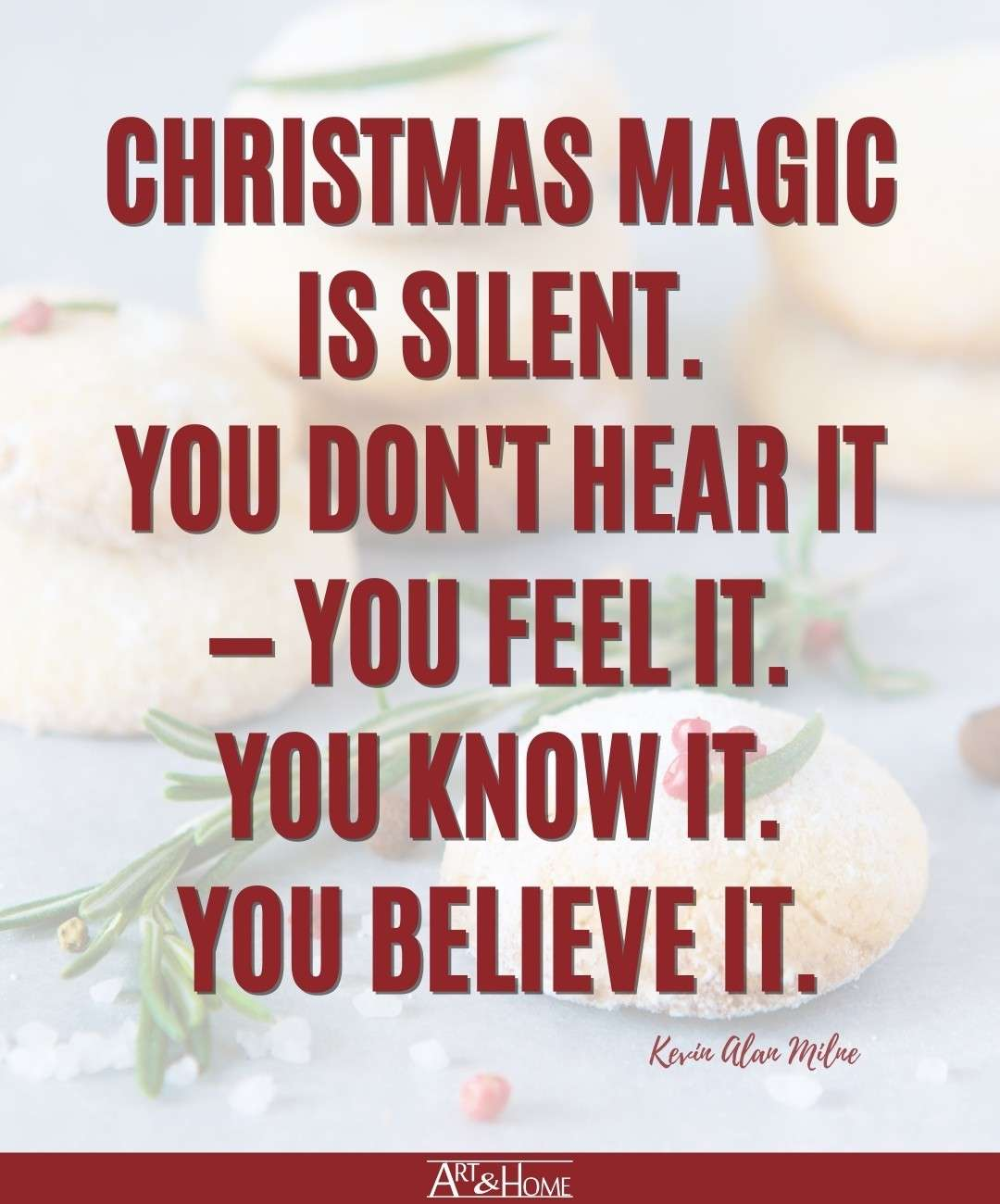 Kevin Alan Milne Christmas Magic Quote