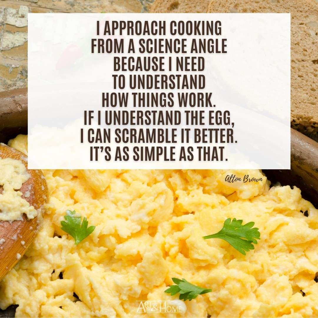 Quote About Cooking Eggs | The Science of Food Quote