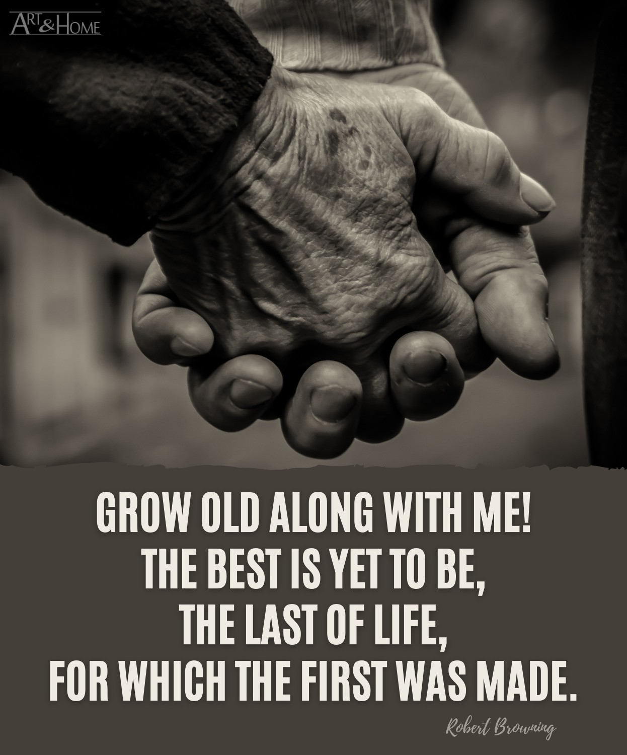 Robert Browning Grow Old Quote