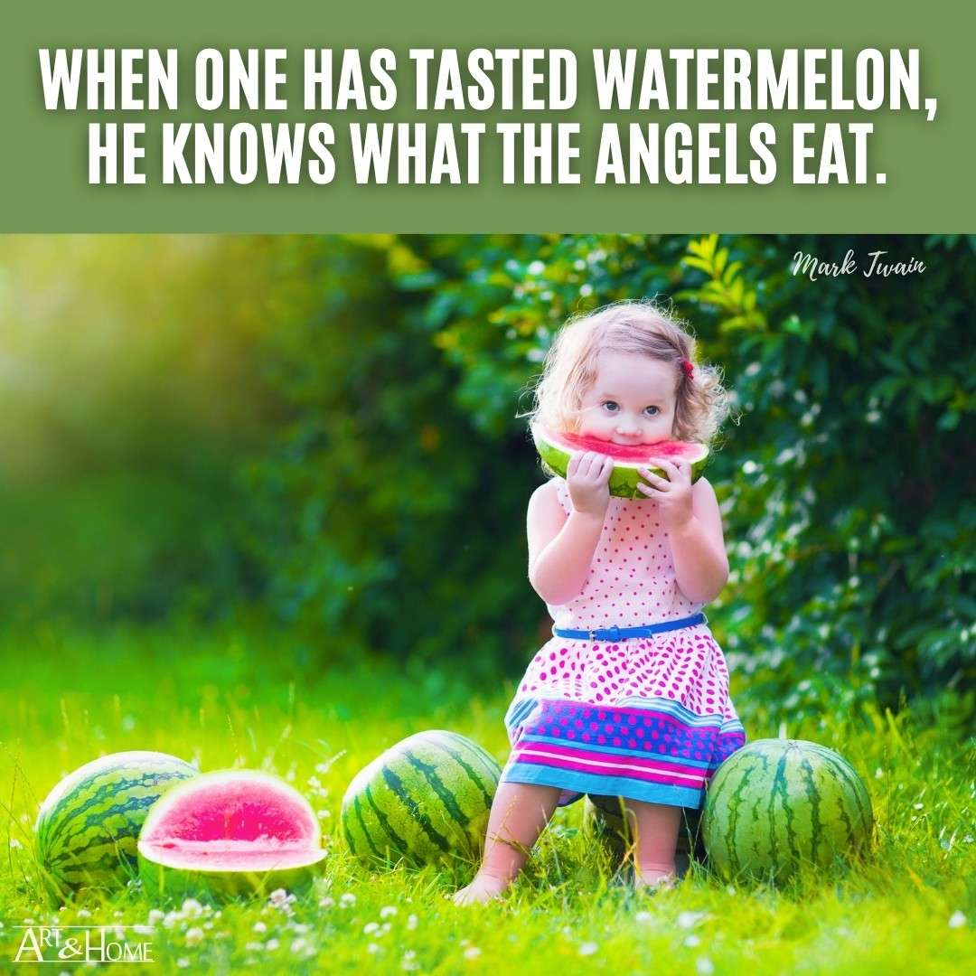 Mark Twain Quote About Watermelons