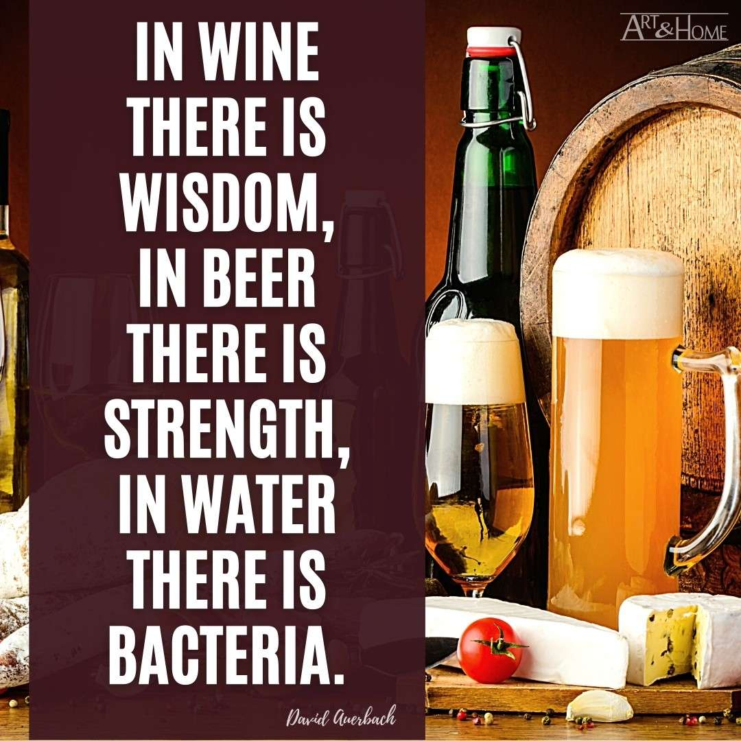 Wine Beer Water David Auerbach Quote