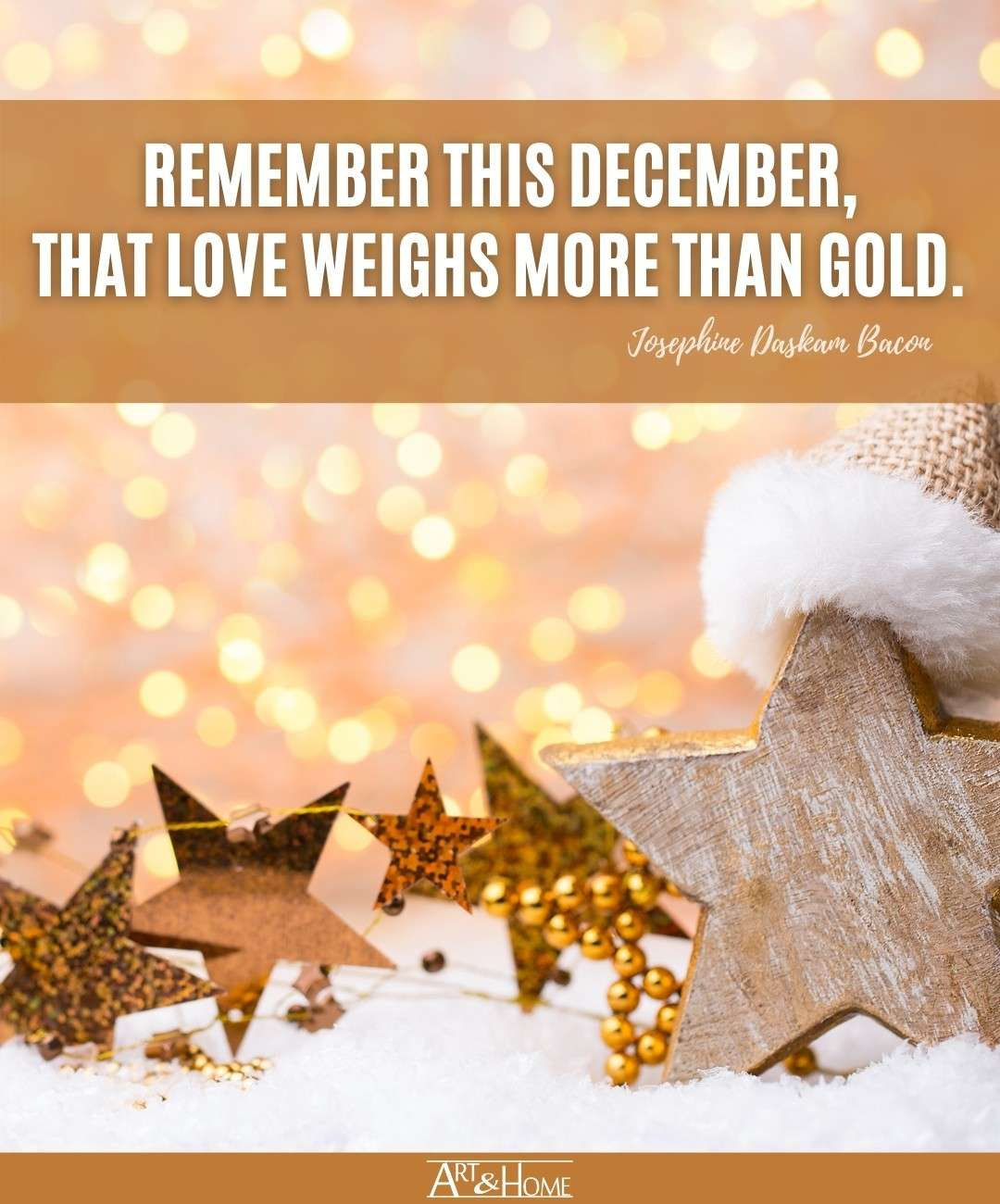 love weighs more than gold Christmas quote