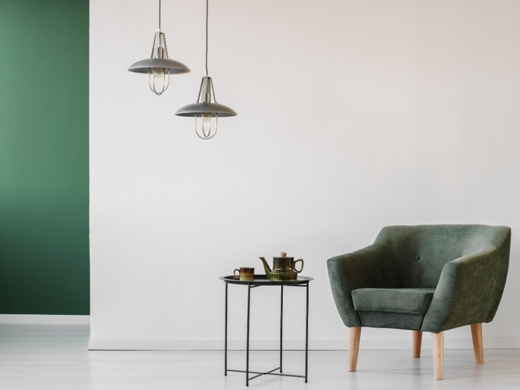 Choosing minimalist furniture is a great way to create space within the home.