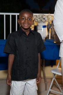 My Little man's guayabera. Destination wedding shirt and Capri shorts.