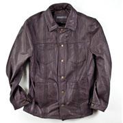 Leather Guayabera Jacket