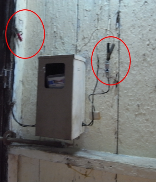 Cuban home electric meter