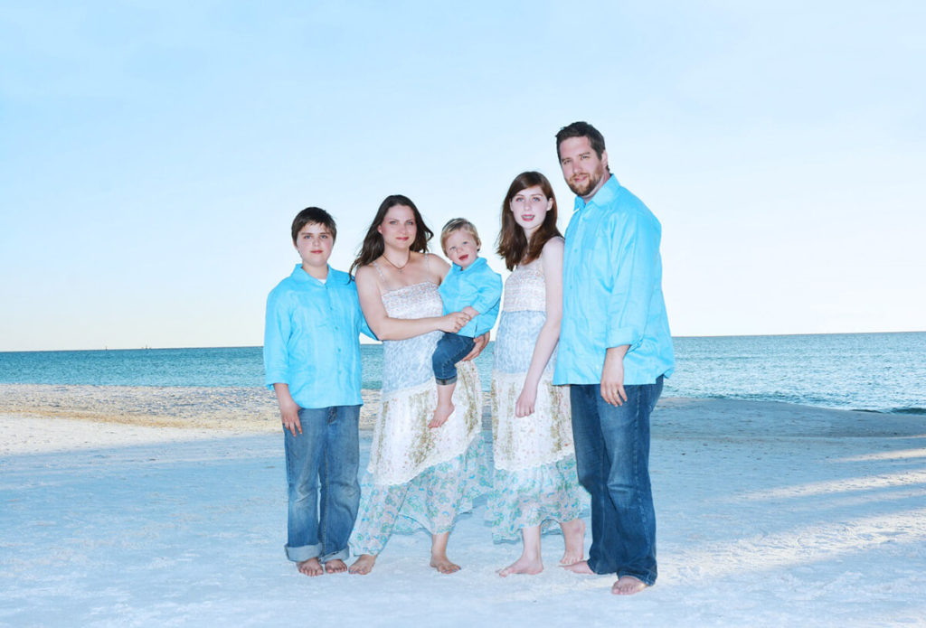 Guayaberas worn for Family Portraits captured at the Beach