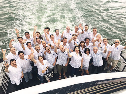 A Family Cruise in Theme-Coordinated, Identical, White Guayaberas: Portraits are the essence of a Cruise and Guayaberas just enhance that essence even more