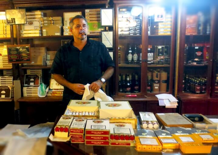 Majority Cigar Shop Owners throughout Cuba and Miami wear Guayabera during working hours and their everyday life too
