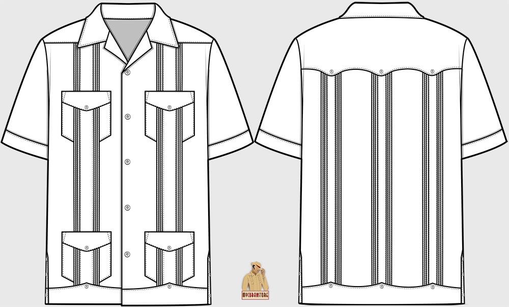Shirt Jack Guayabera Shirt Details