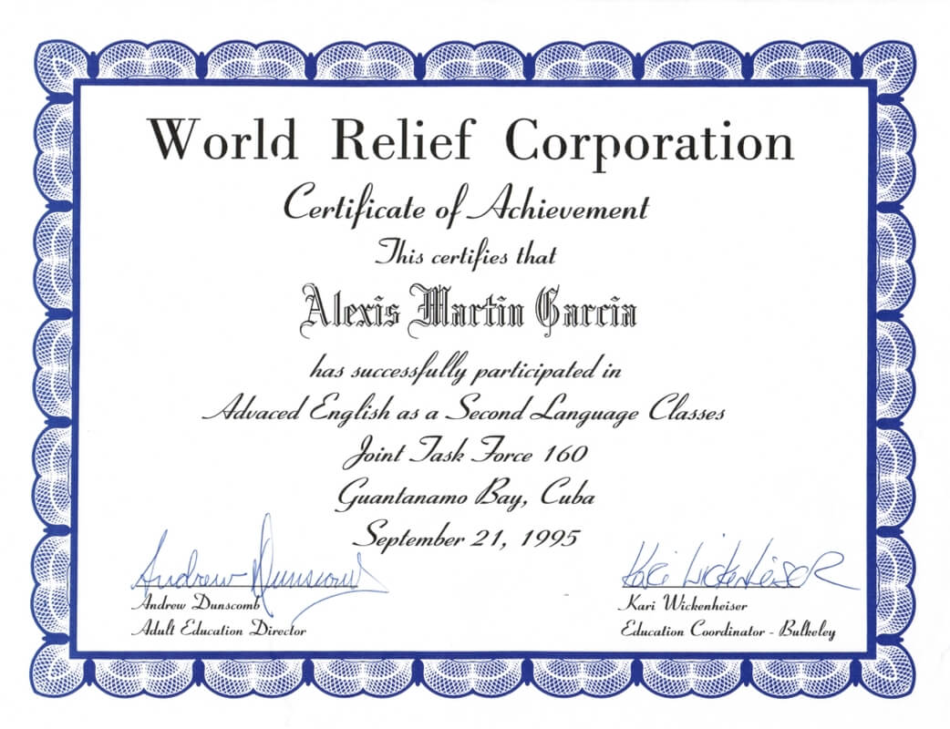 World Relief Certificate