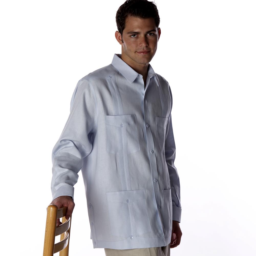 Men's long sleeve guayabera shirts
