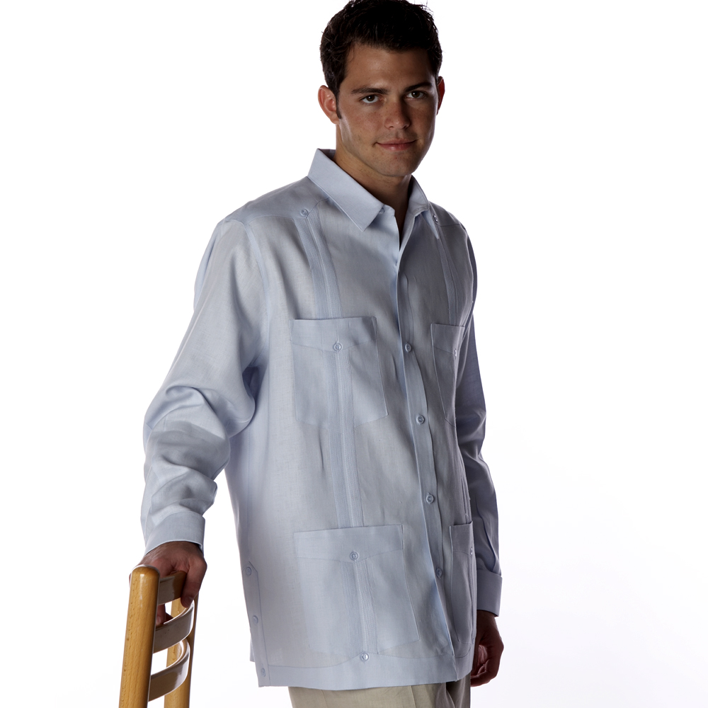 Men's long sleeve guayabera shirts