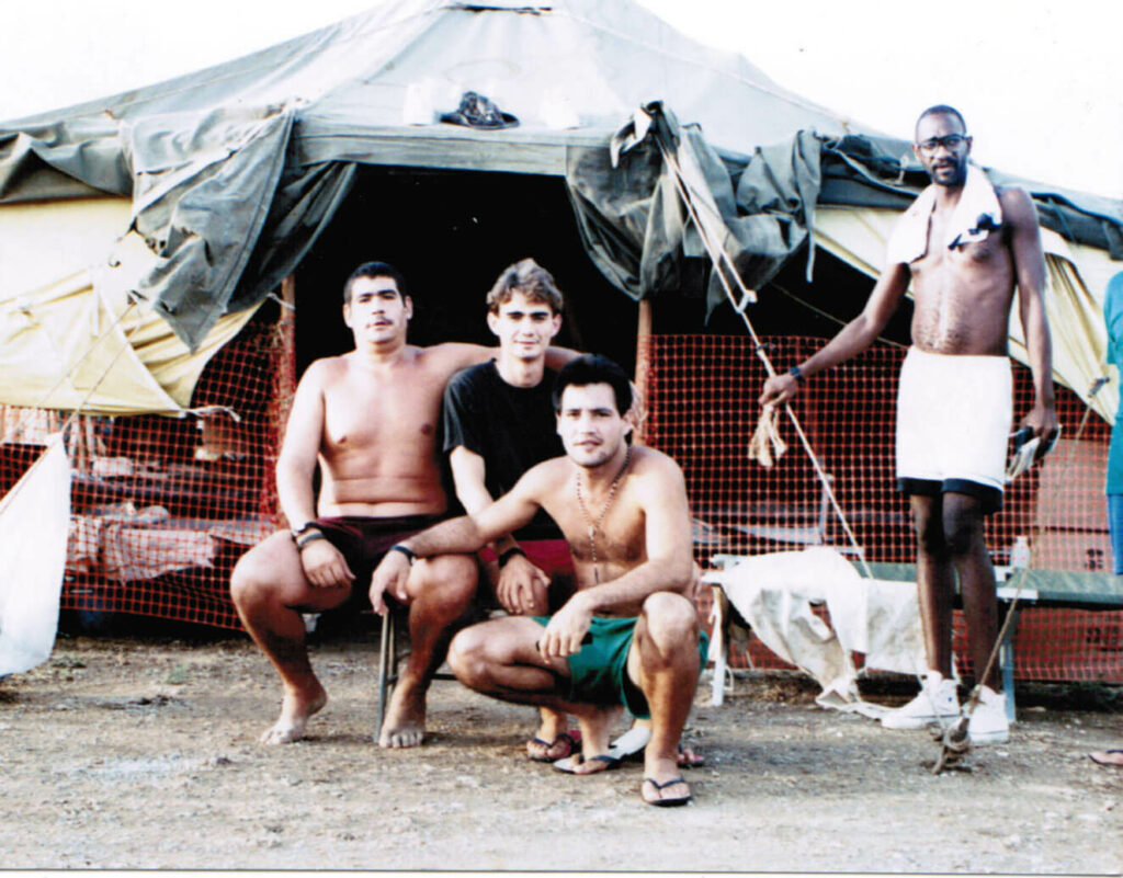 Me in Guantanamo Bay (black t shirt)