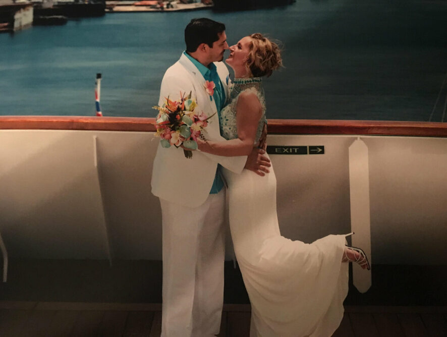 Linen Suit wedding, congratulations, Korena.