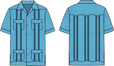 Typical Guayabera Shirt Design