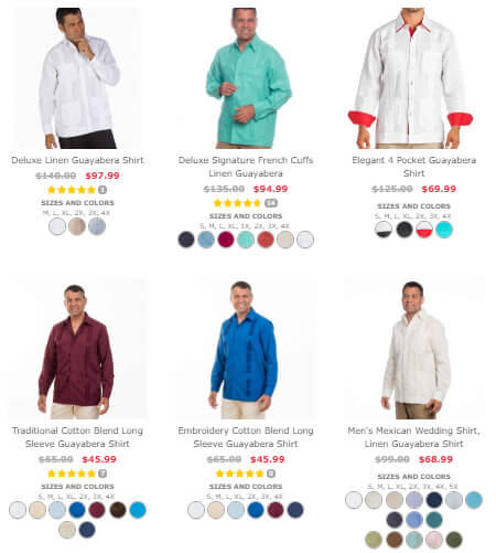 men long sleeve guayabera shirts
