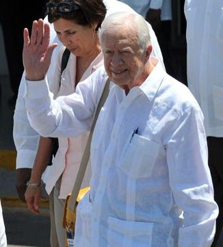 Former President Carter in a Guayabera