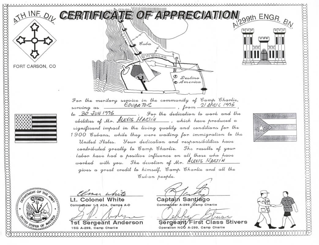 Certificate From Camp
