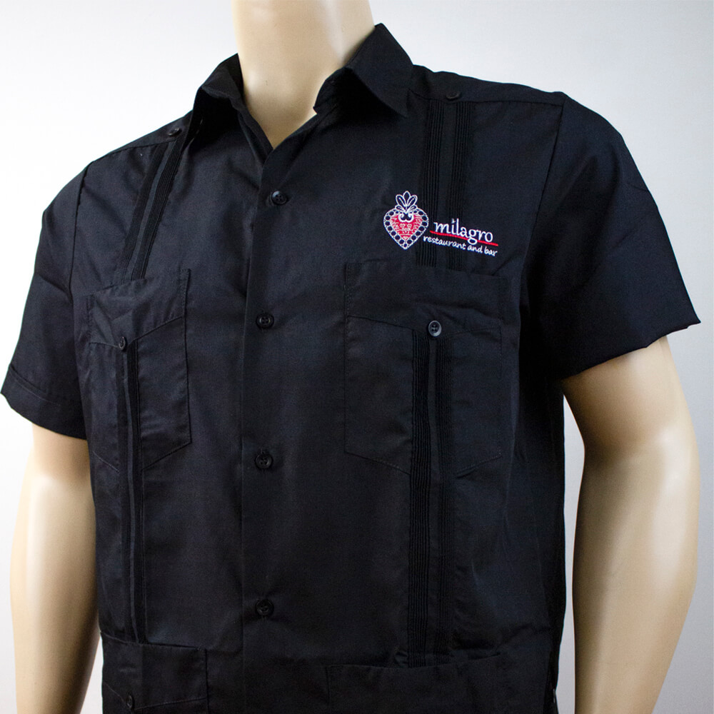 Embroidered Guayabera for Mexican Restaurant uniform