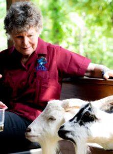 Susan and Goats