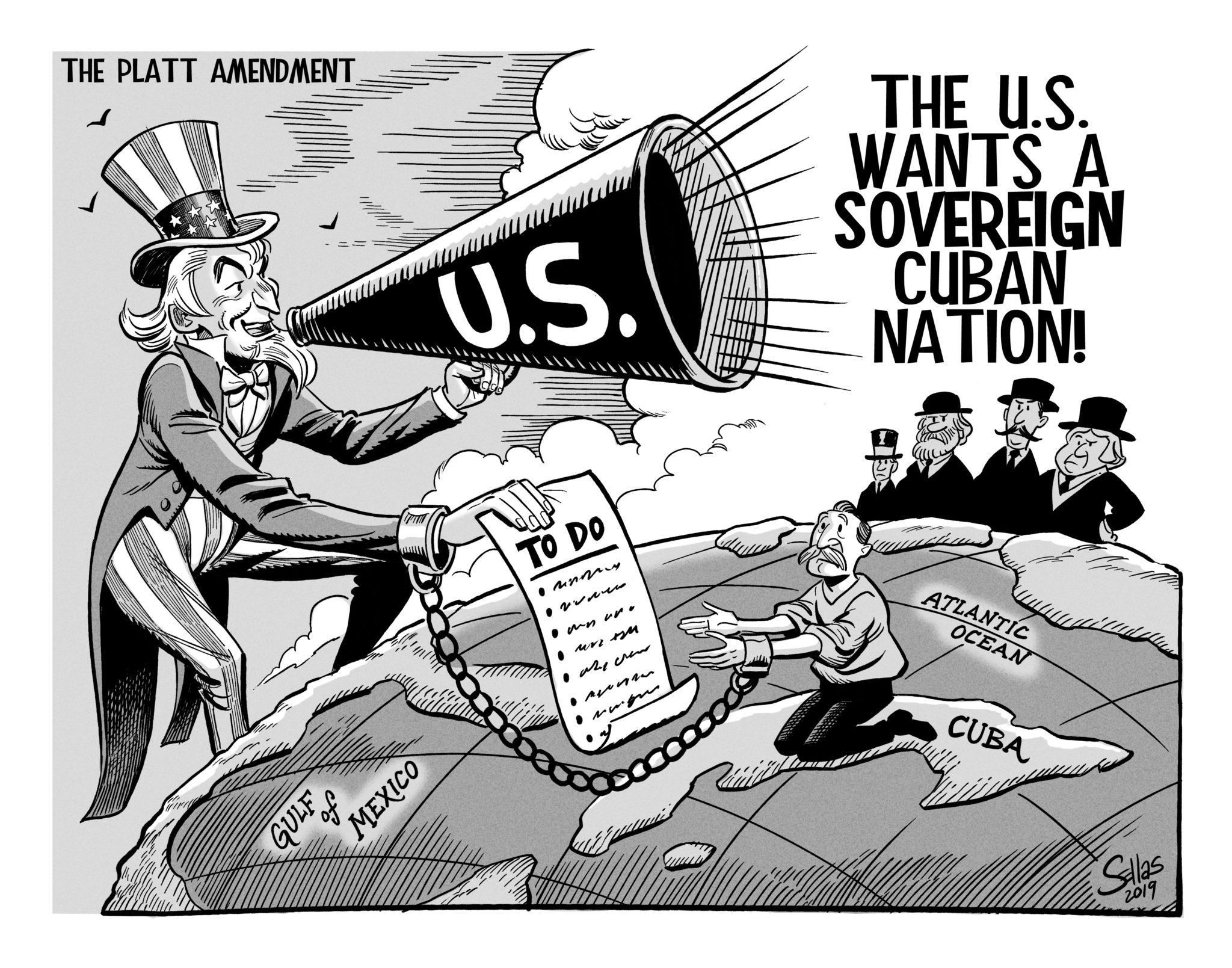 Political Cartoon of The Platt Amendment