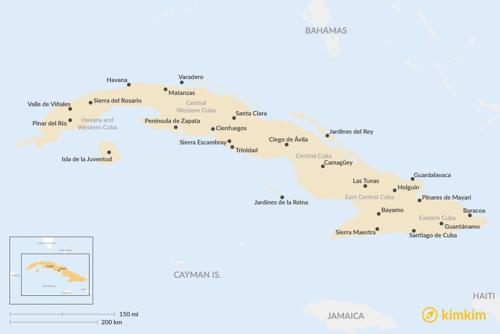 Detailed Map of Cuba